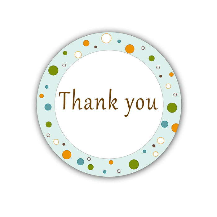 Green Polka Dots Party Thank You Tag - Printable Party Tag Birthday Party Favors Baby Shower Favor Birthday Favors