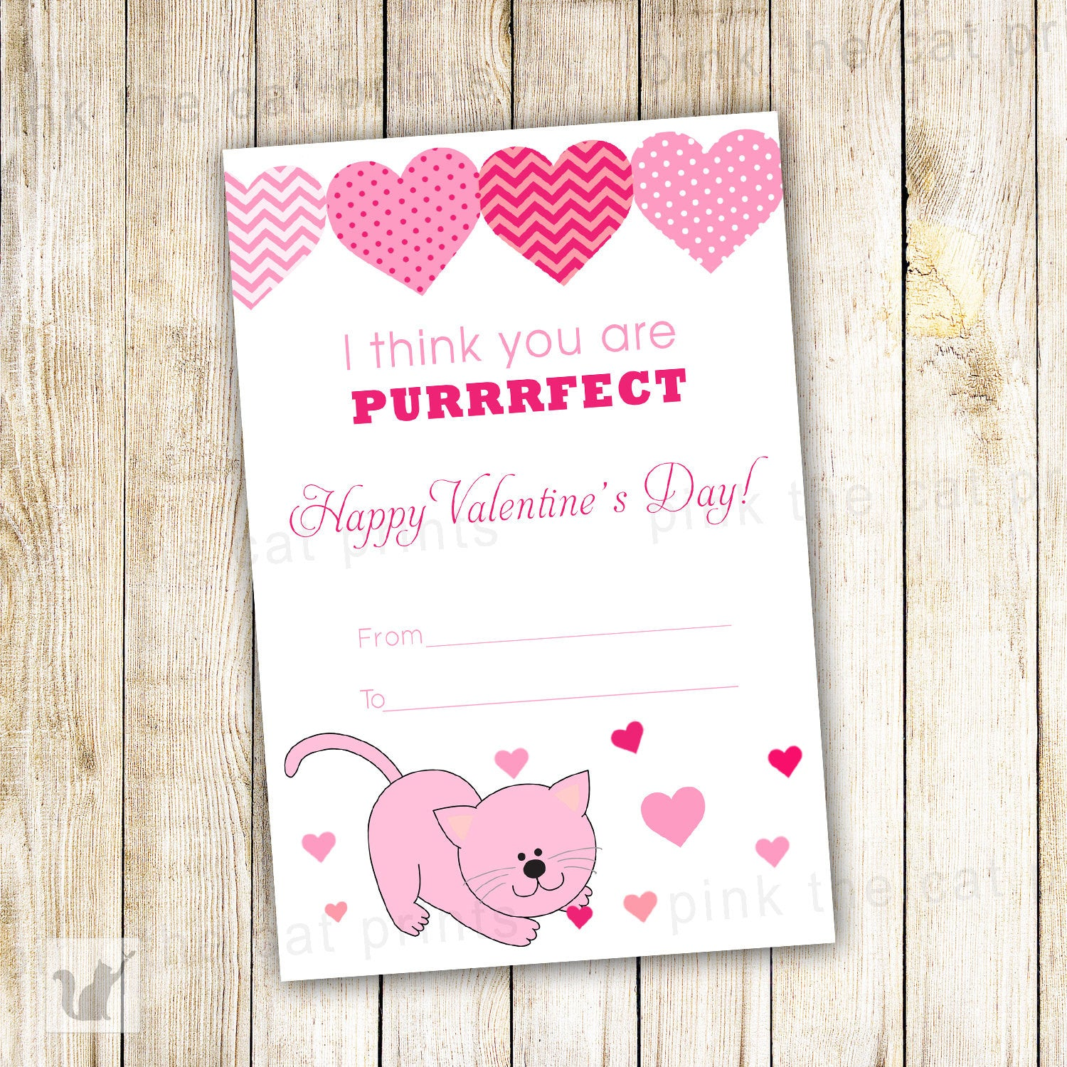 Kitten valentines greeting card you are purrfect cat printable kitten valentines greeting card you are purrfect cat printable file m4hsunfo