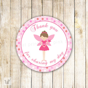 Fairy Favor Label Gift Tag Sticker Birthday Baby Shower