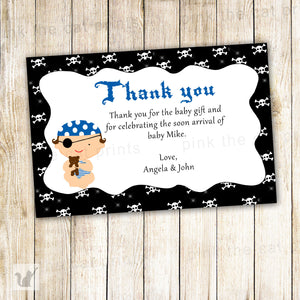 Pirate Thank You Card Baby Boy Shower