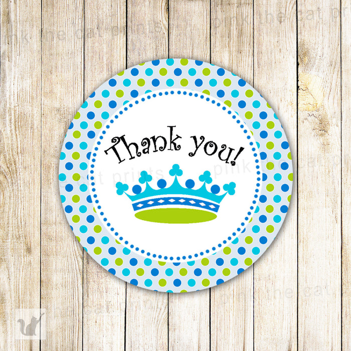 New Little Prince Favor Label Tag Blue Green Printable