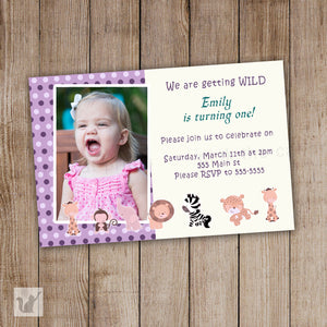 purple jungle invitation