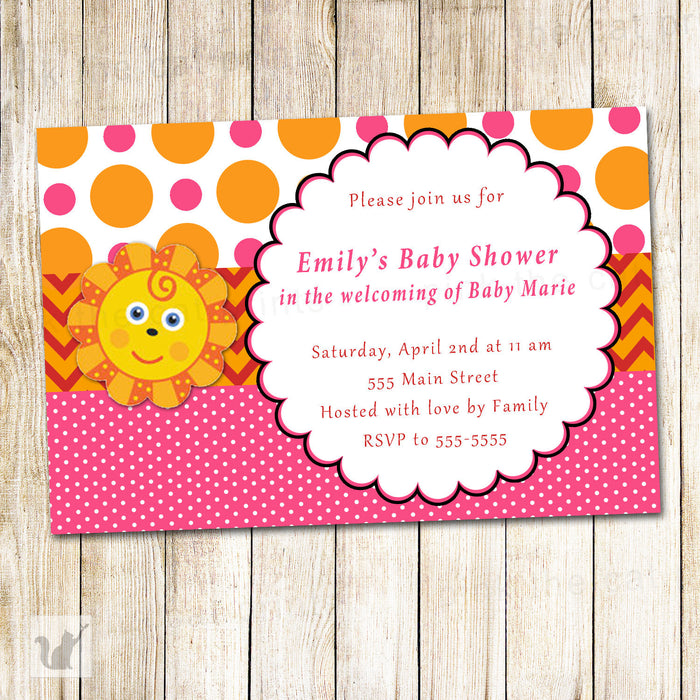 Little Sunshine Invitation Baby Shower Birthday
