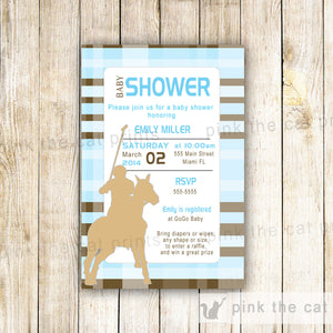 polo baby shower invitation
