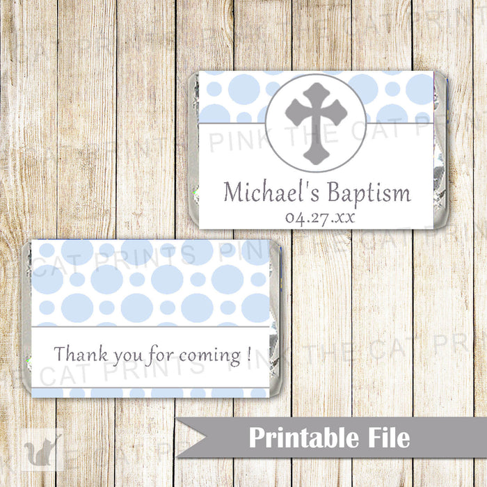 Candy Wrapper Label Boy Baptism Christening Communion