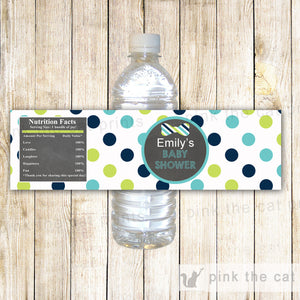Bow Tie Chalkboard Bottle Label Teal Green Blue