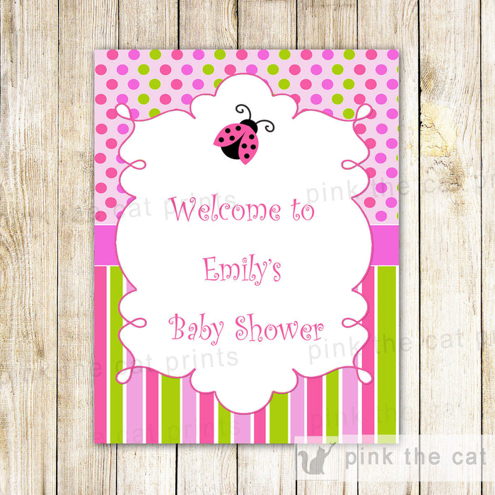 Ladybug Welcome Sign Birthday Baby Shower