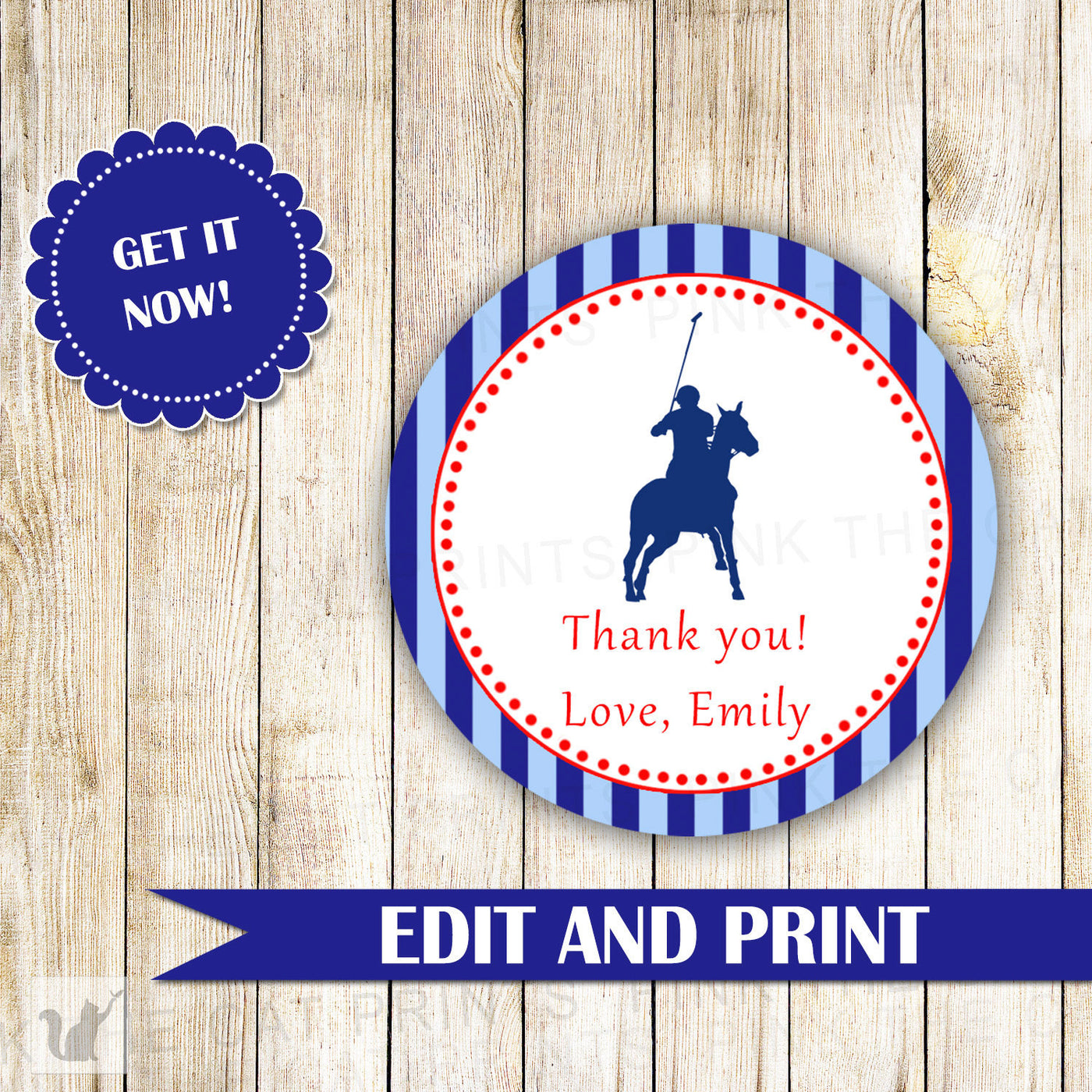 Polo Gift Favor Label Or Tag Sports Kids Birthday Baby Boy Shower