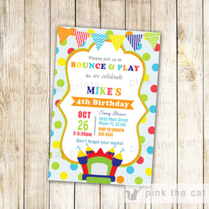 bounce birthday invitation