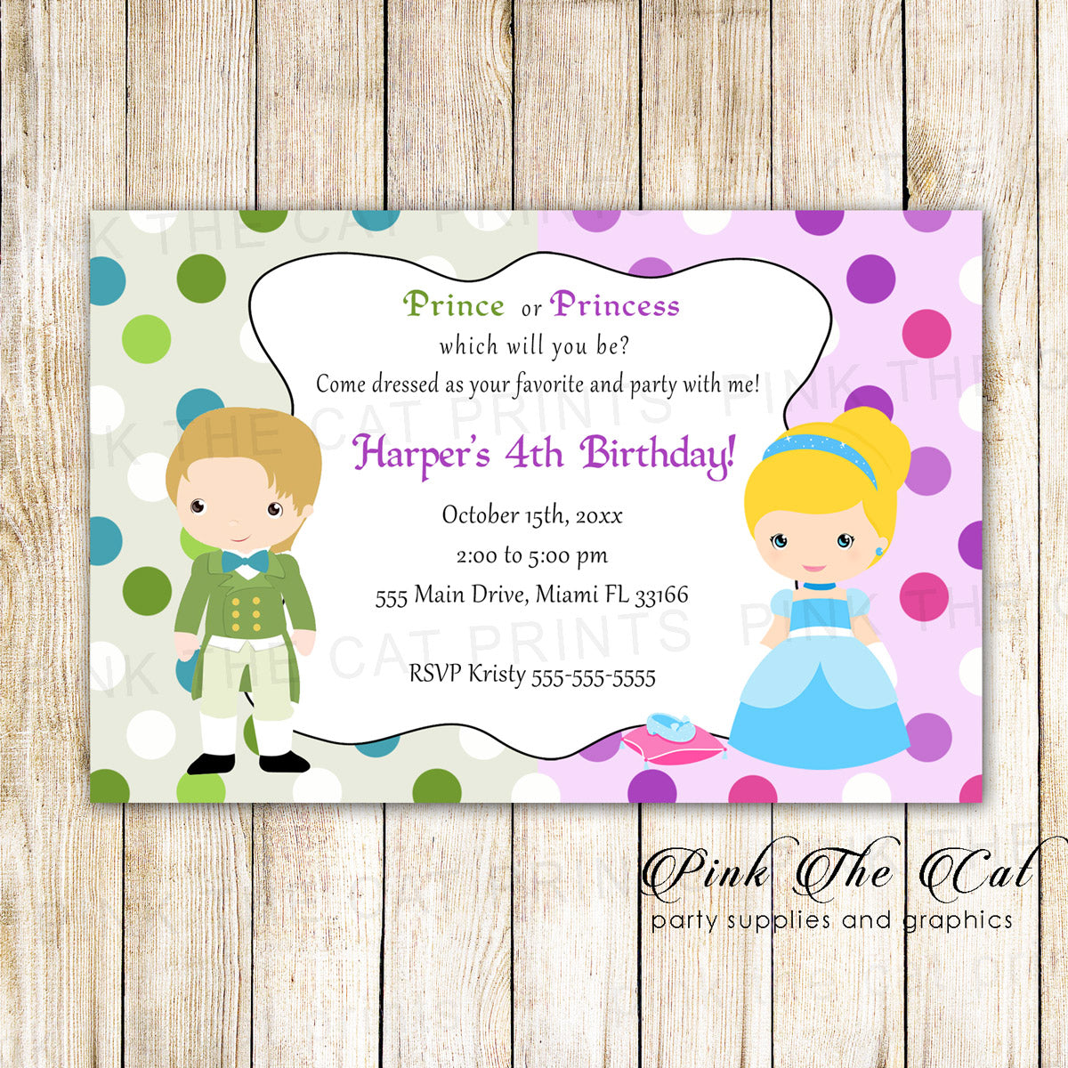 Invitation Cards Children S Birthday Princess Invitations