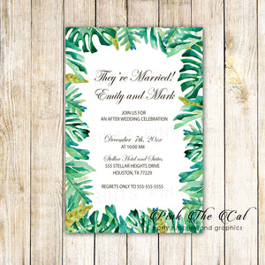 100 Botanical After Wedding Celebration Invitations