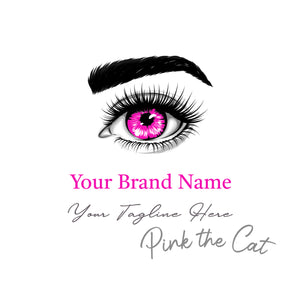 Premade eye lash beauty logo design