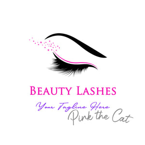 Premade eyes makeup beauty logo design