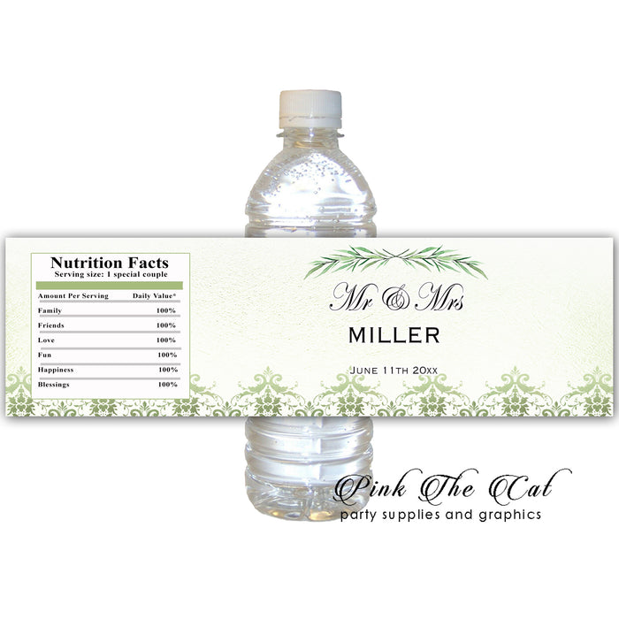 Greenery bottle label printable