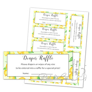 Little lemon watercolor invitation