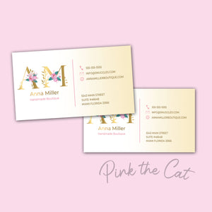 Premade any monogram business card