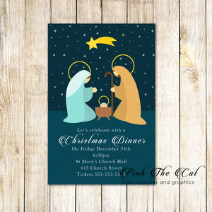 30 Christmas holiday party invitation nativity dinner