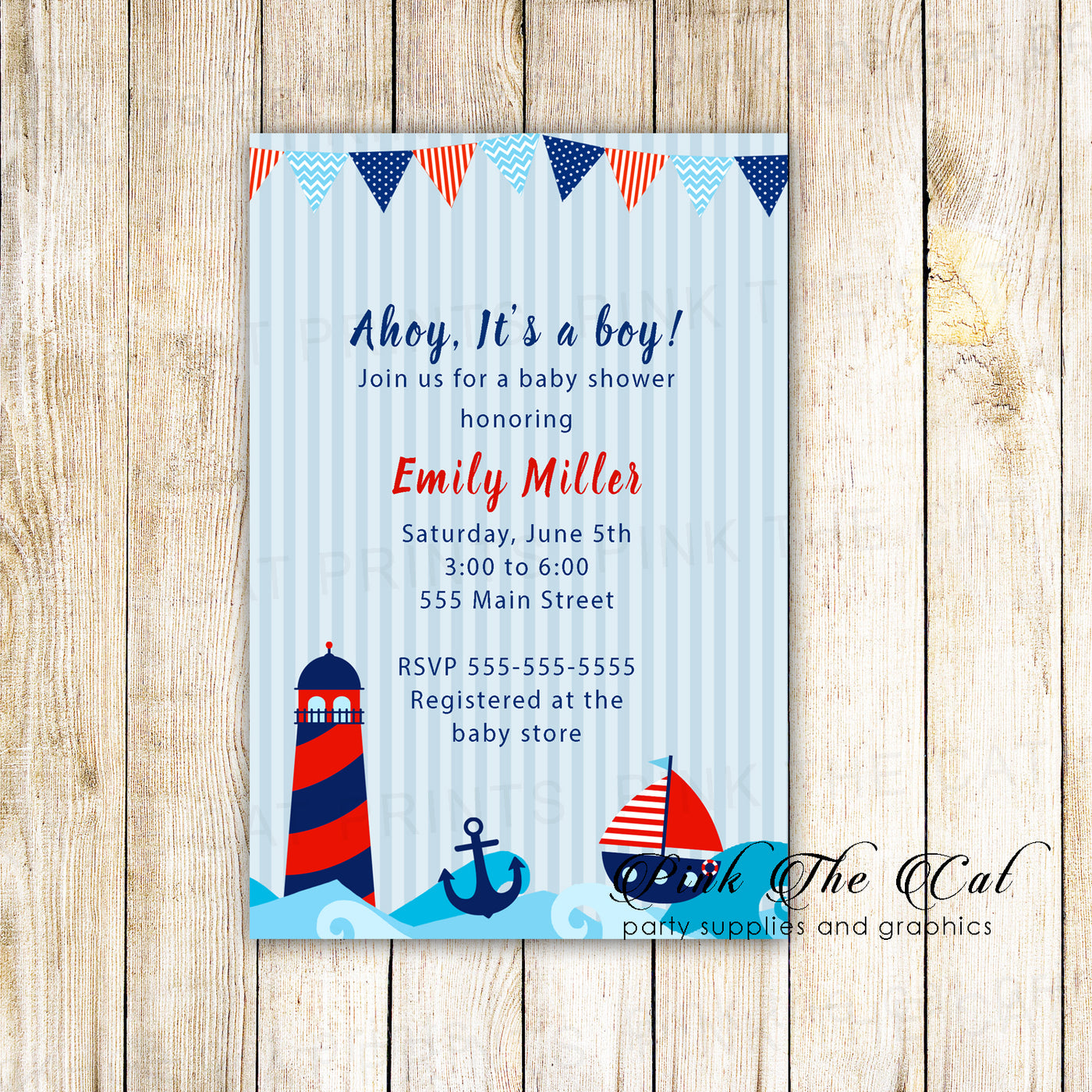 graphic regarding Nautical Baby Shower Invitations Printable referred to as Nautical little one shower invitation printable