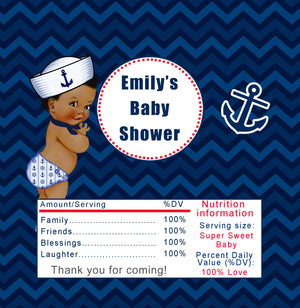 30 candy labels nautical vintage baby shower