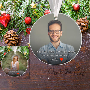 Christmas ornament memorial photo mom dad friend