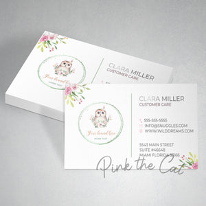 Premade owl business card