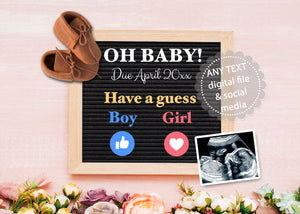 Pregnancy announcement social media oh baby