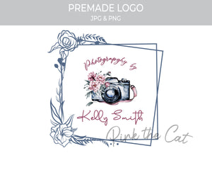 Premade photography vintage logo design
