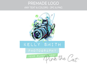 Premade modern photography logo design