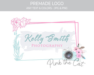 Premade floral photography logo design