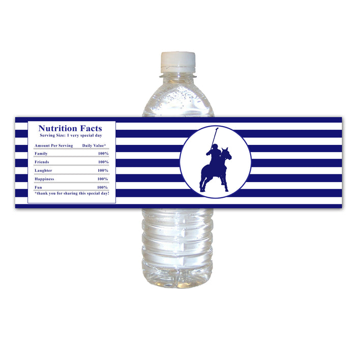 Polo navy blue bottle label (set of 30)
