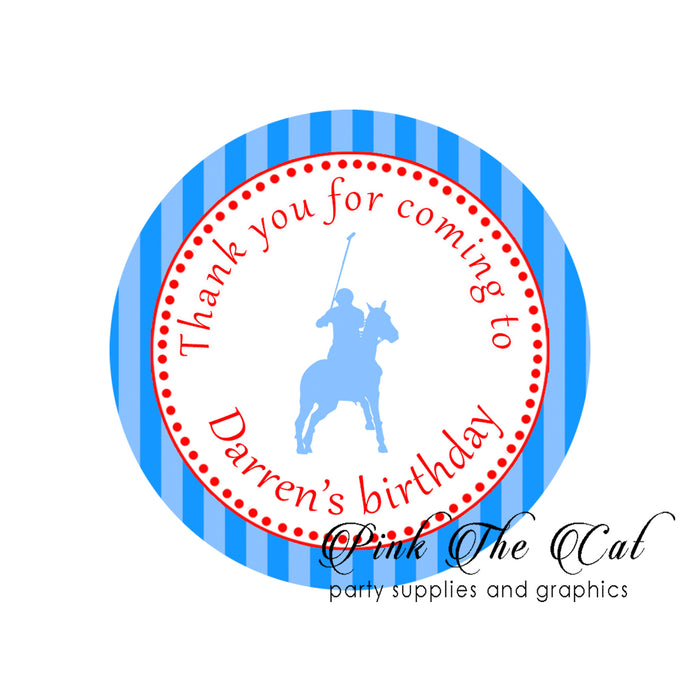 Polo blue red stickers (set of 70)