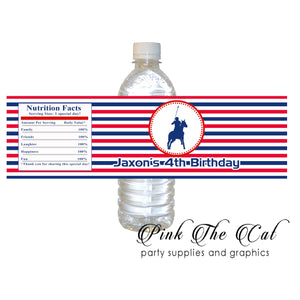 30 Polo blue red bottle stickers label birthday baby shower favors