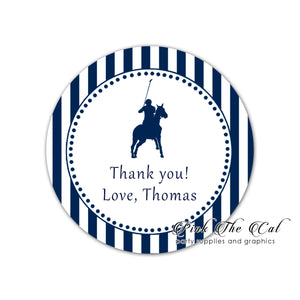 Polo navy blue stickers labels printable birthday baby shower
