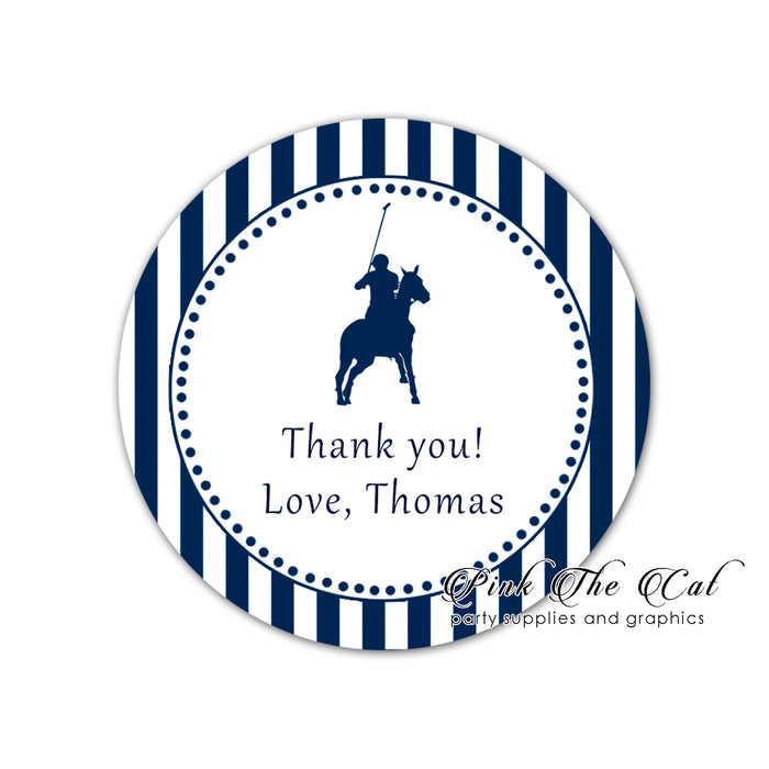 Polo navy blue stickers labels printable