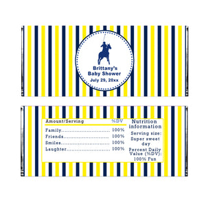 Polo Candy Bar Wrapper Label Blue Green Printable Instant Download