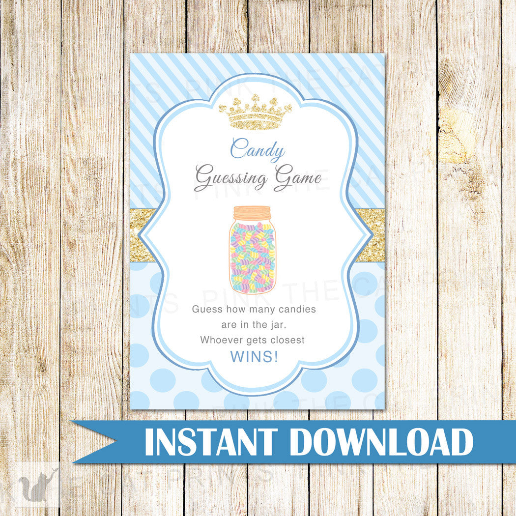graphic about Guess Who Game Printable called Sweet Guessing Recreation Prince Kid Shower - no document connected fold 35