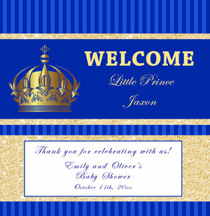 Candy bar wrappers prince royal blue gold printable
