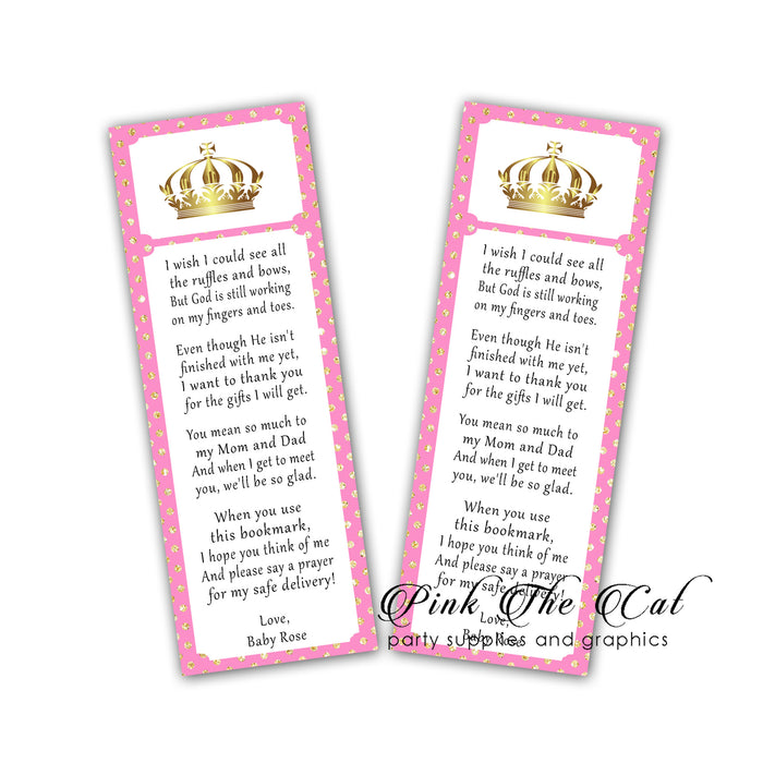 Princess bookmarks pink gold (set 25)