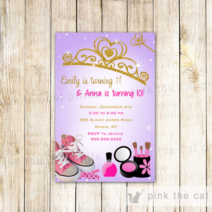 Glamour Princess Invitation Girl Birthday Party