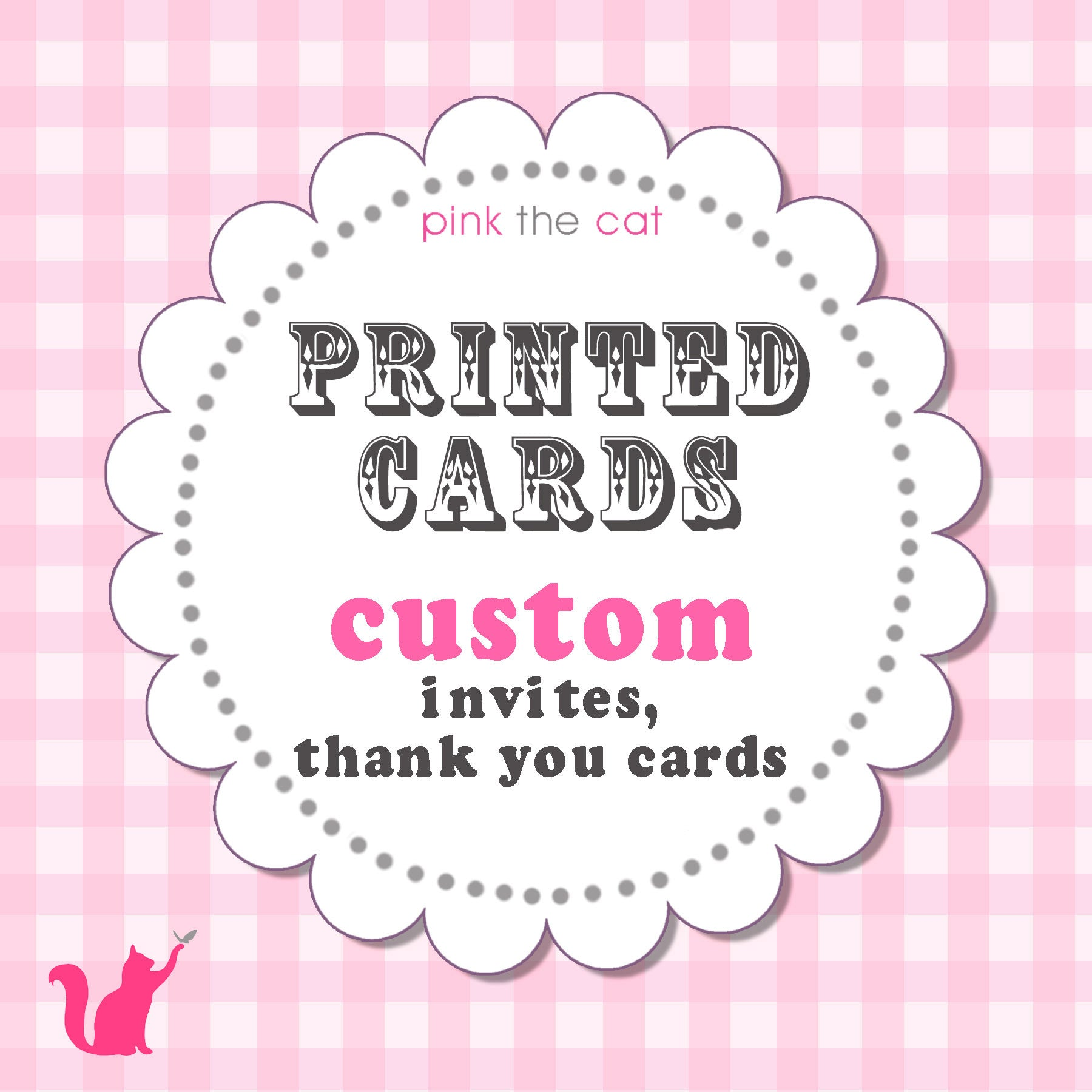 Printed Invitations Or Thank You Cards Card Stock Envelopes Pink