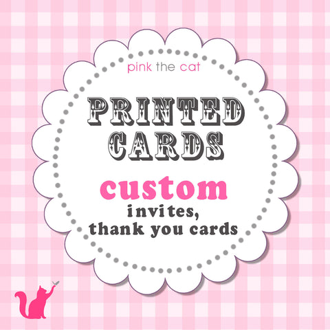 Printed Invitations or Thank You Cards Card Stock + Envelopes