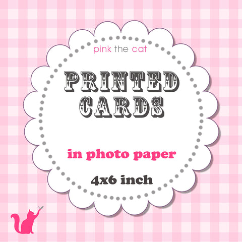 Printed Invitations or Thank You Cards Photo Paper