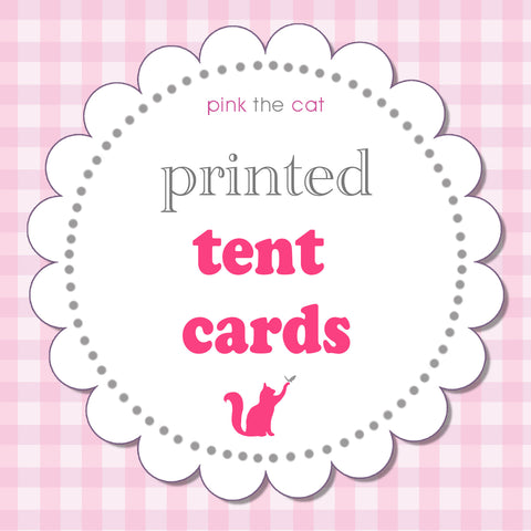 Printed tent cards - Pack of 30