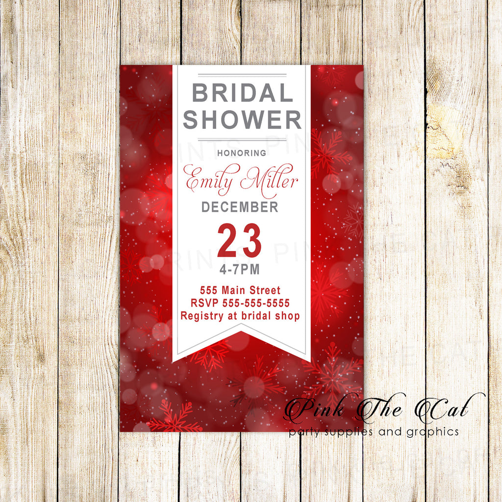 Bridal shower invitations – Pink The Cat