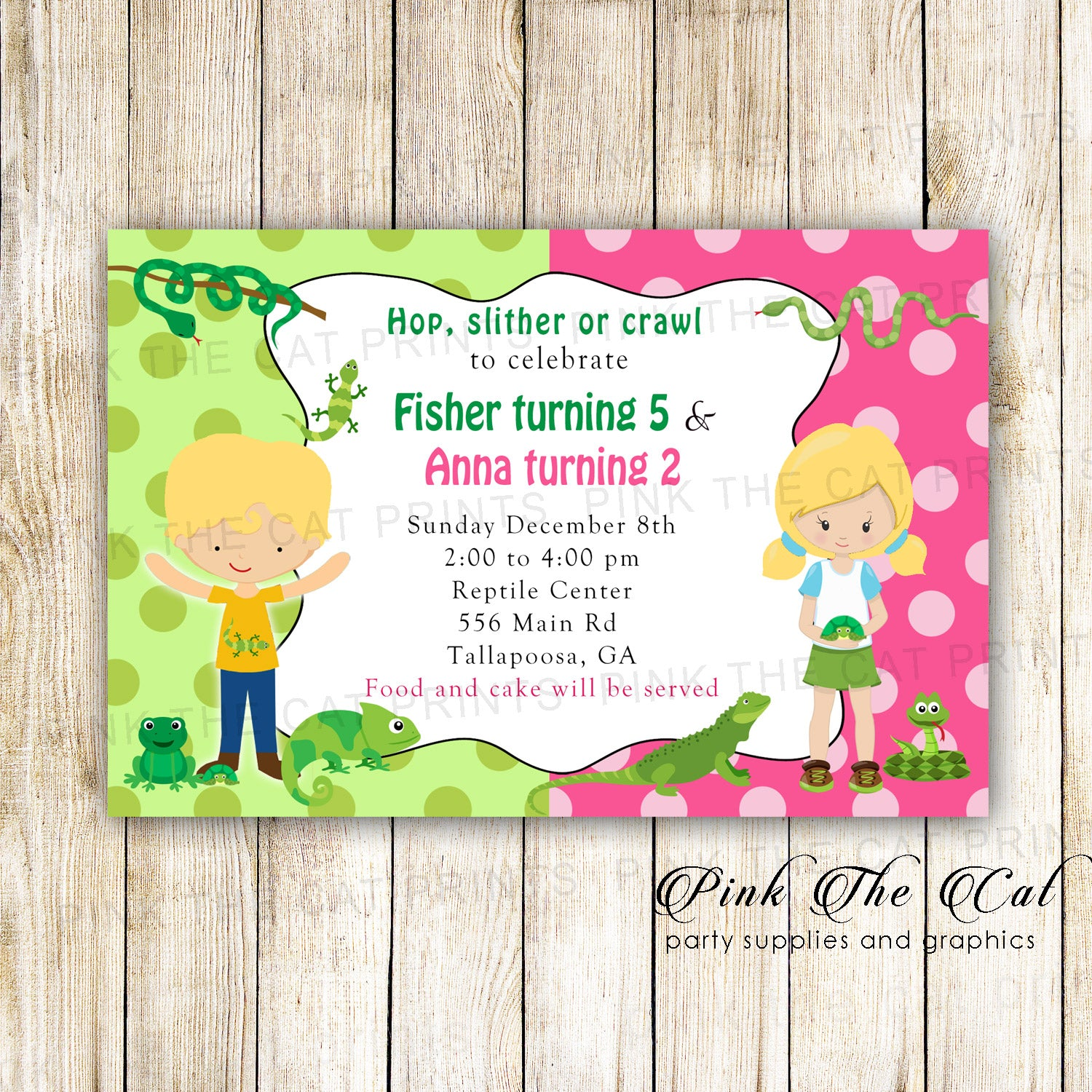 30 printed cards reptile snakes kids birthday invitation 30 reptile snake kids birthday invitations filmwisefo