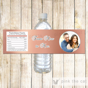 Rose Gold Bottle Labels Wedding Photo Wrappers