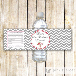 Bottle Labels Roses Bridal Birthday Baby Shower