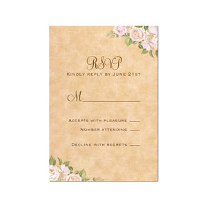 Rustic response cards (set of 100)