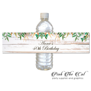 Rustic vintage bottle label (set of 30)