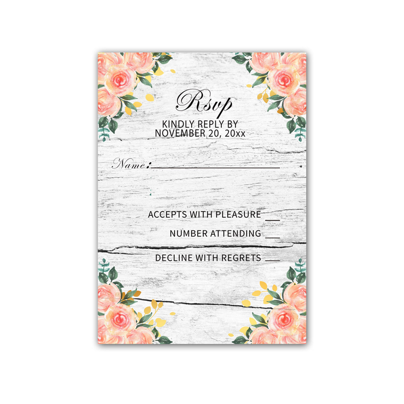 image relating to Printable Rsvp Cards identify RSVP playing cards picket rustic wedding ceremony crimson gold printable